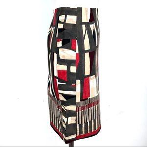 NIC+ZOE Skirts - NIC+ZOE Geo Print Stretch Twill Pencil Skirt, 4